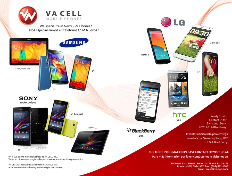 wholesaler of sony, samsung , htc, lg, blackberry cell phones