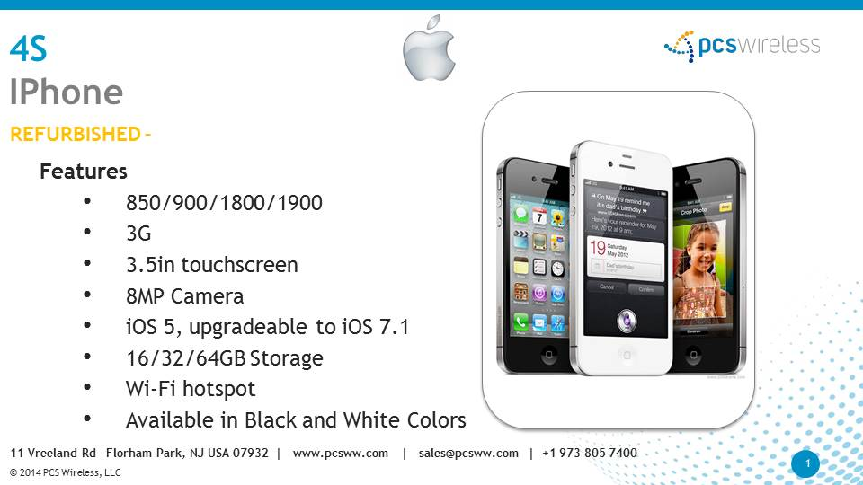 Wholesaler of Apple iPhone 4s Reufrbished Cell Phones