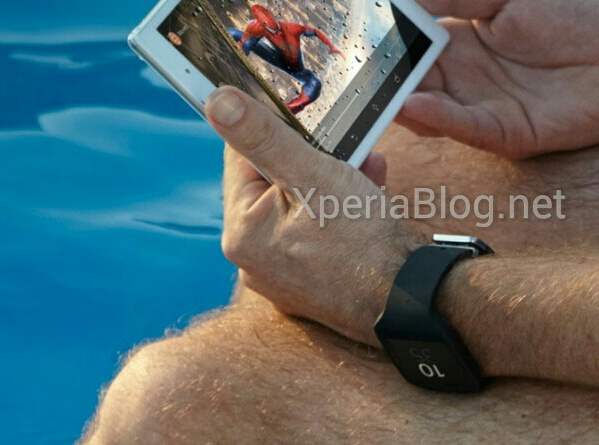 sony smartwatch 3 seen in photo with tablet, facebook image