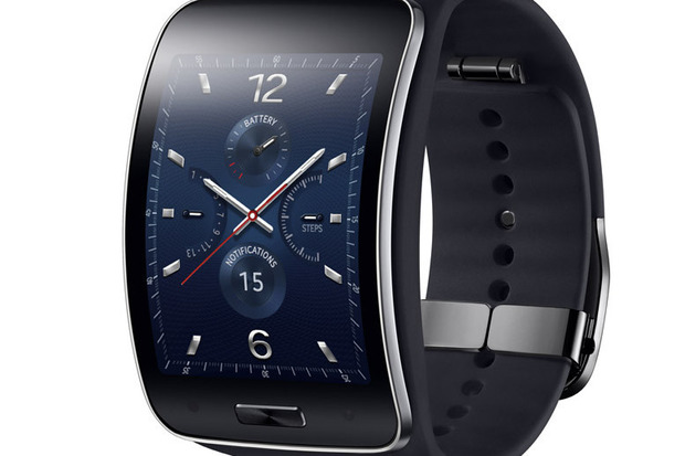 is samsung gear s display to big