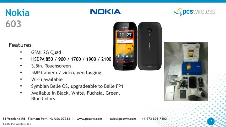 nokia 603 wholesale phones