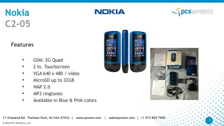 wholesaler of nokia c2-05 cell phones