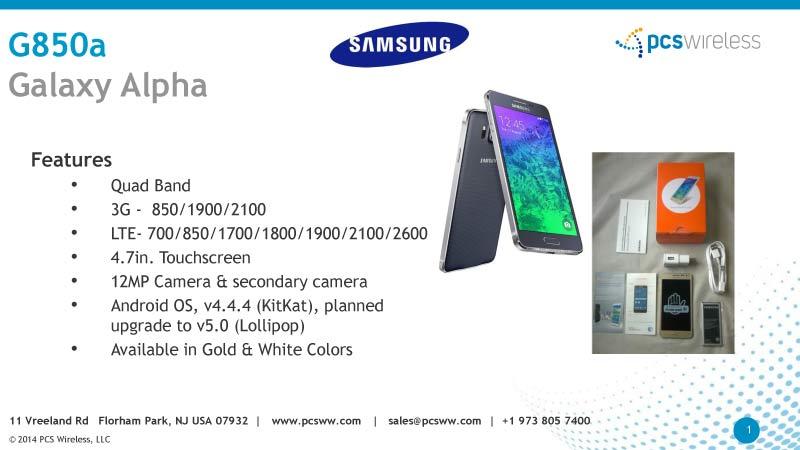 wholesaler of samsung galaxy alpha cell phones