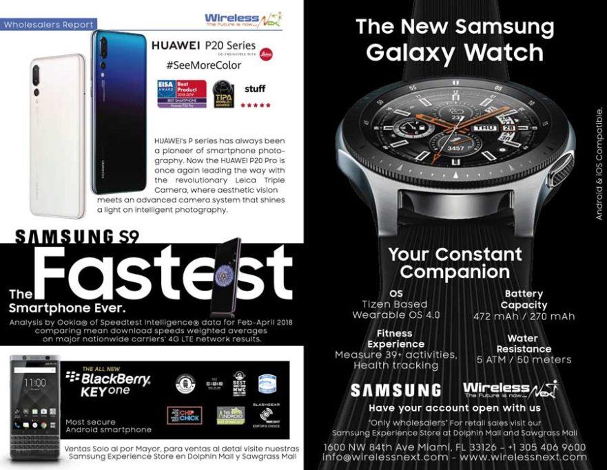 distributor for huawei, samsung, blackberry, carrying blackberry keyone, huawei p20 series phones, smartwatch