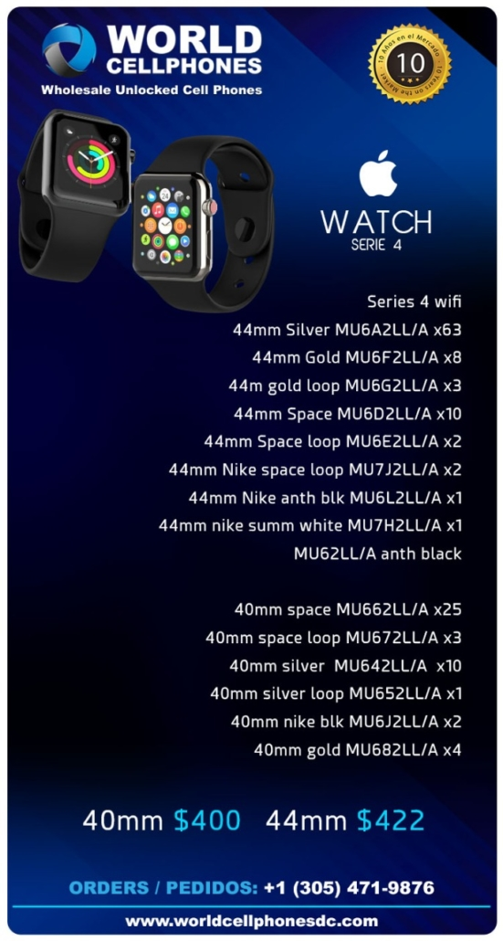 wholesale distributor of apple watch series 4