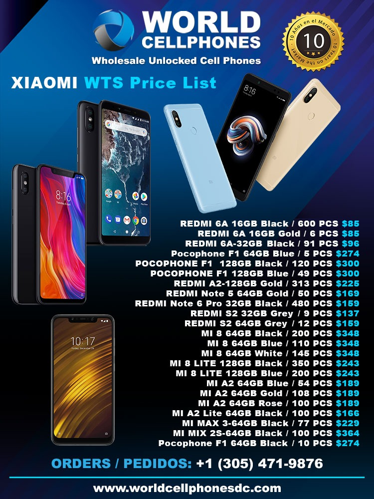 wholesale distributor of xiaomi phones