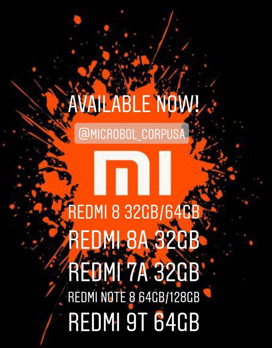 Redmi 7A, Redmi 8, Redmi 8A, Redmi Note 8, Redmi 9T