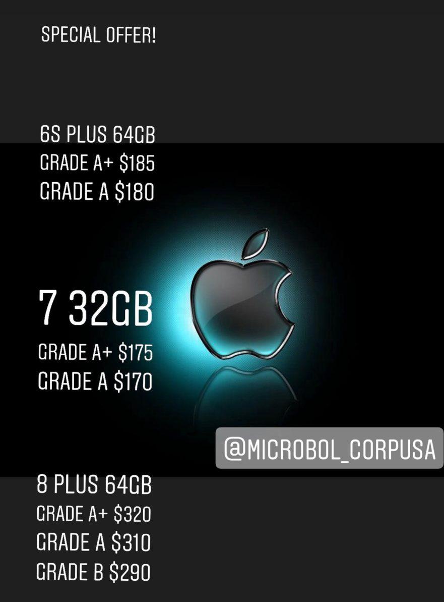 wholesale iphones grade a, b, c