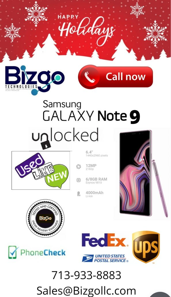 wholesale samsung note 9 unlocked